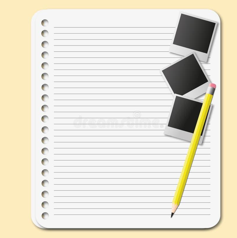 Download 纸页 向量例证. 插画 包括有 记事本, 设计, 附注, 消息, 铅笔, 办公室, 填充, 文件, 线路 - 22354711