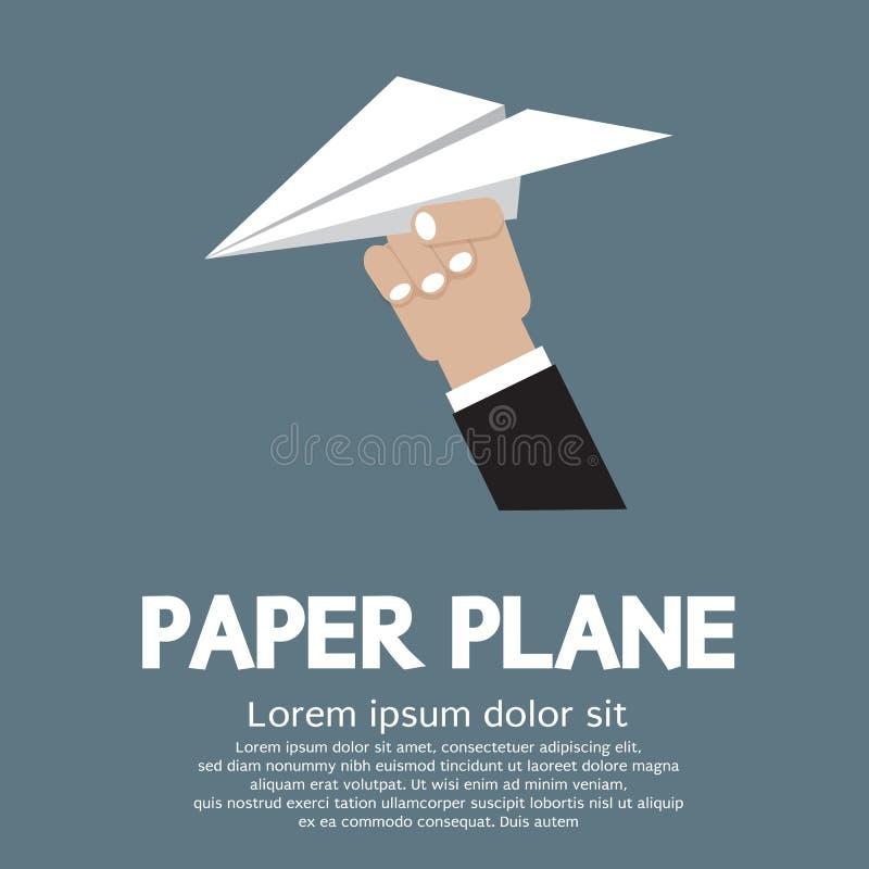 纸飞机在手中 库存例证