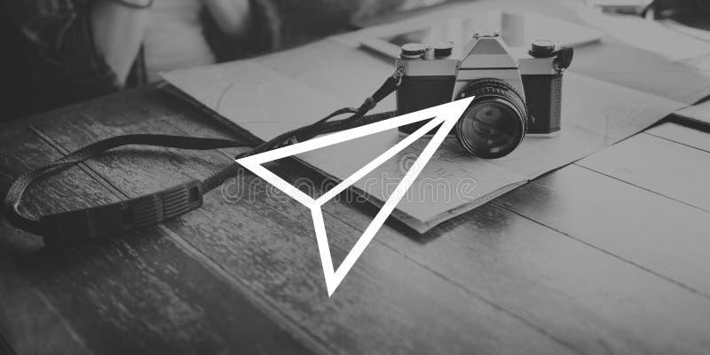 纸飞机火箭队发射成长成功起动概念 免版税图库摄影