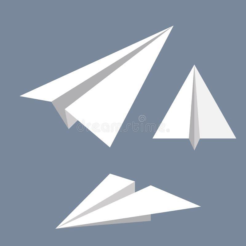 纸飞机的传染媒介例证 库存例证