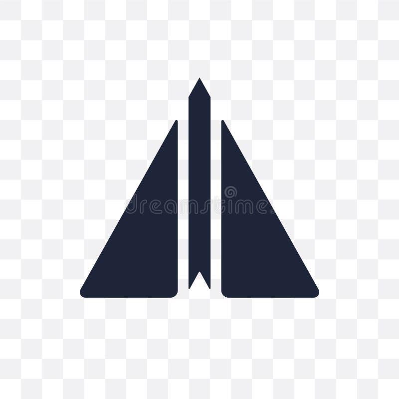 纸飞机透明象 从Sta的纸平面标志设计 皇族释放例证