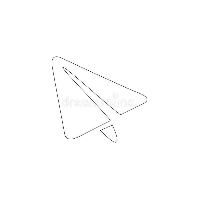 纸飞机 平的传染媒介象 向量例证