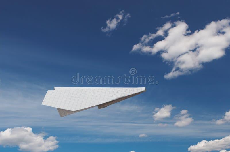 纸飞机 库存图片