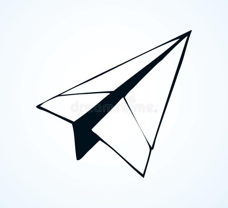 纸飞机 r 库存例证