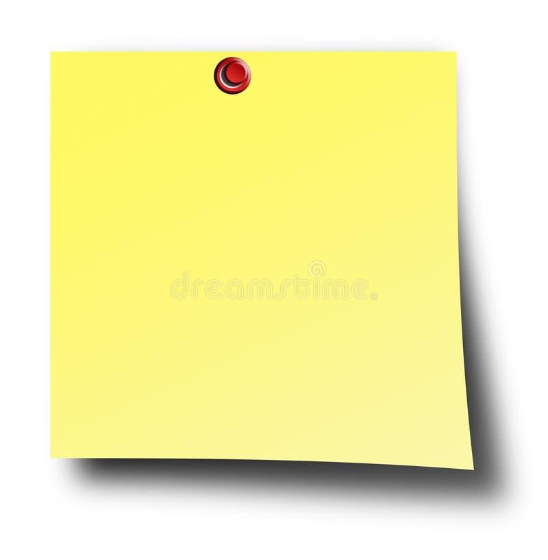 纸黄色 免版税库存照片