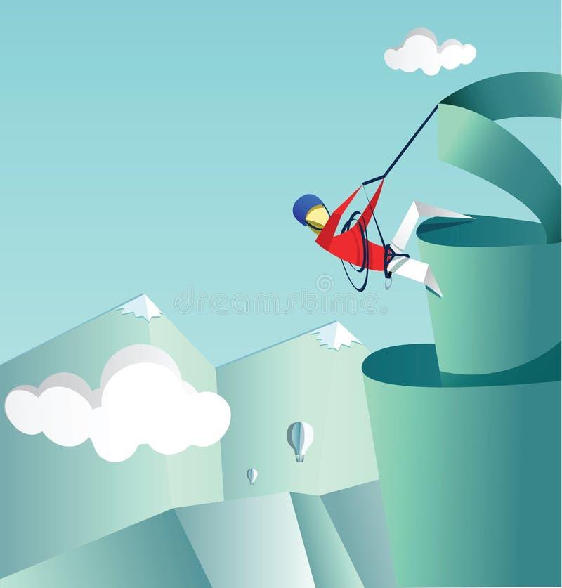 纸登山家上升 库存例证