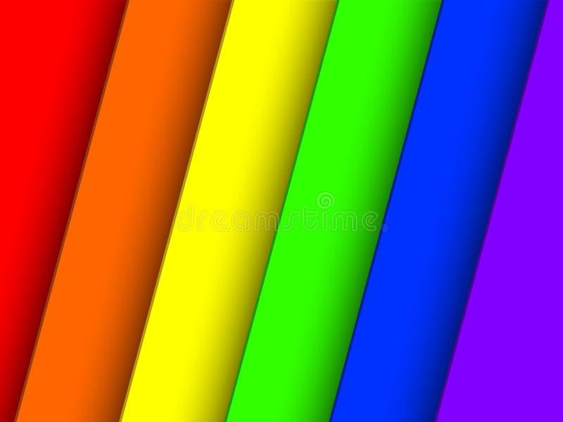 纸3D彩虹条纹 皇族释放例证