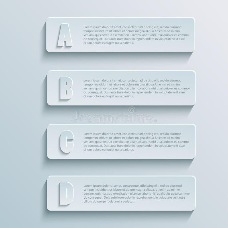 纸infographic1 库存例证