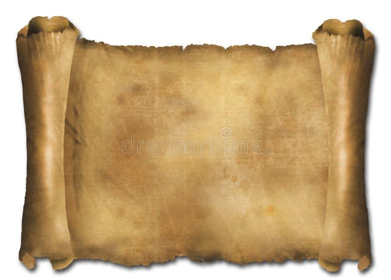 纸scrol 库存例证