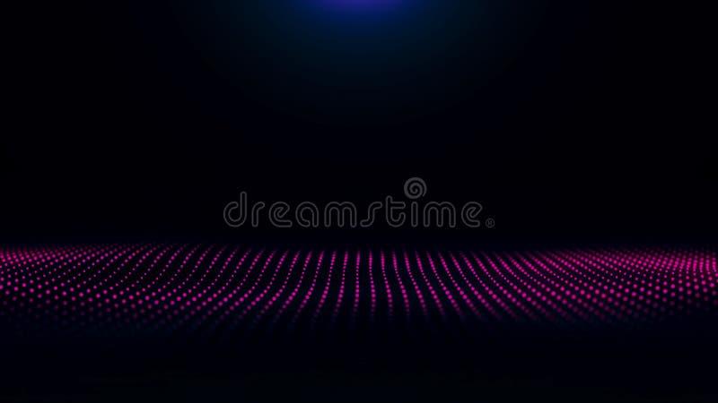 纹理作用背景摘要排行运动波浪蓝色颜色行动 未来派微粒挥动抽象背景 向量例证
