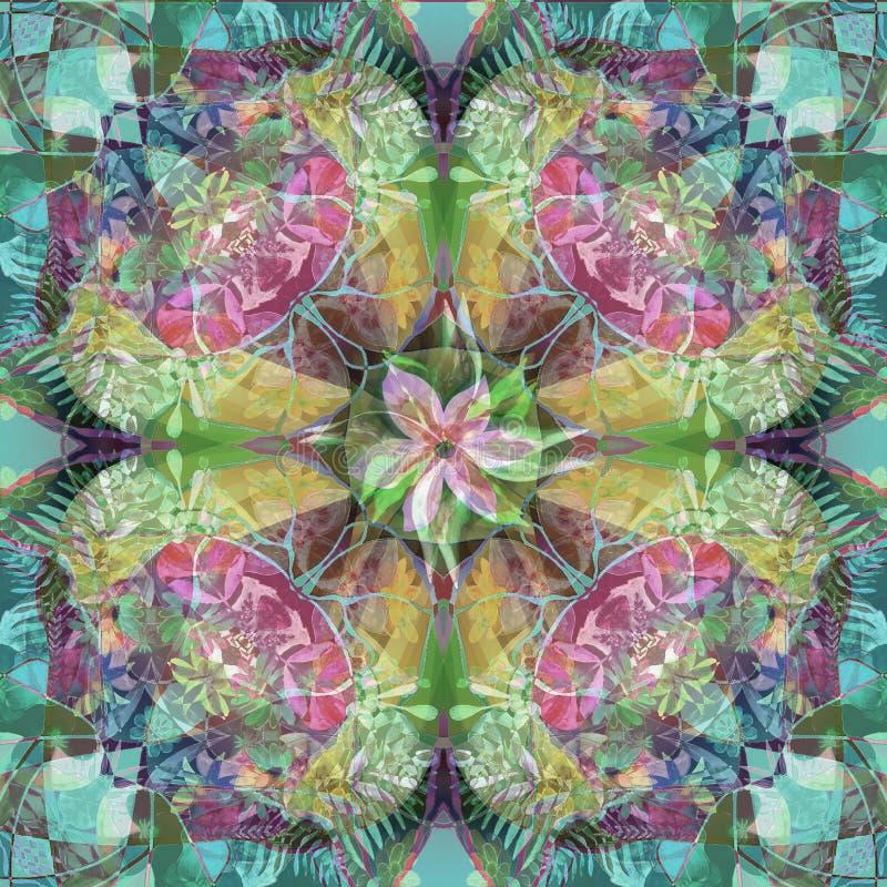 纹理在淡色的花坛场 浪漫样式,天真和春天图象 库存例证