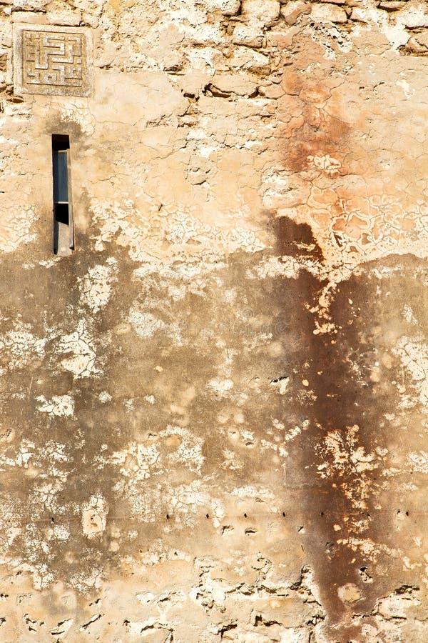 纹理墙壁在非洲摩洛哥窗口里 库存例证