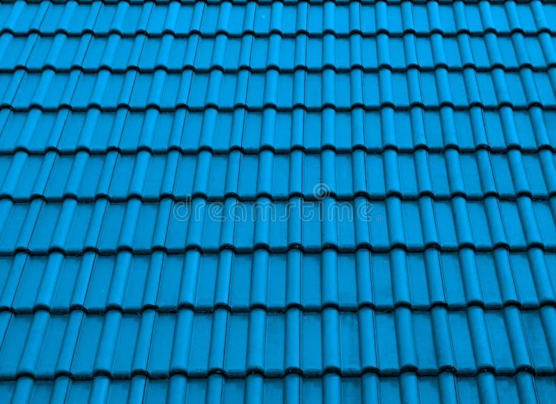 纹理屋顶树荫蓝色 免版税库存图片