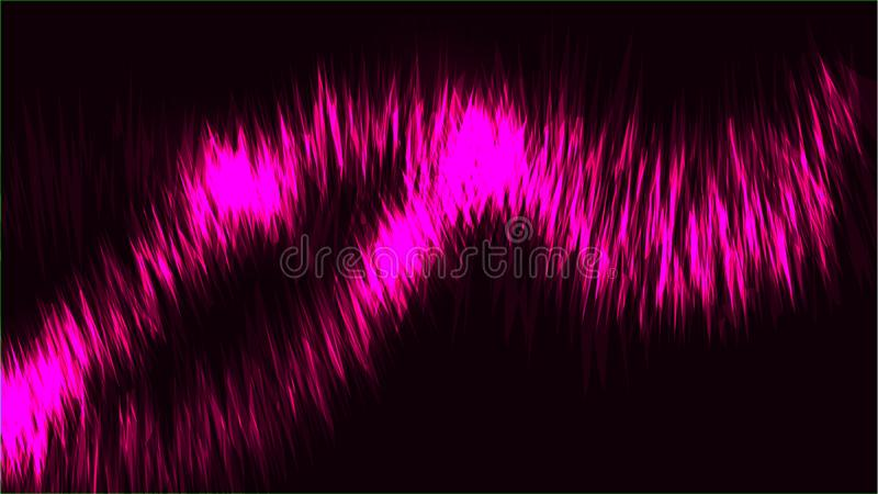 纹理抽象紫色宇宙不可思议的发光的明亮的光亮的霓虹线挥动能量样式和拷贝空间螺纹小条  库存例证