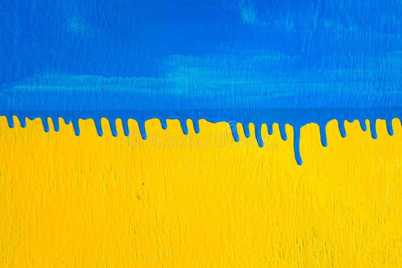 纹理木蓝色黄色背景颜色 免版税图库摄影