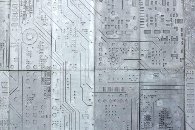 纹理混凝土被巩固的墙壁技术科学 免版税库存照片