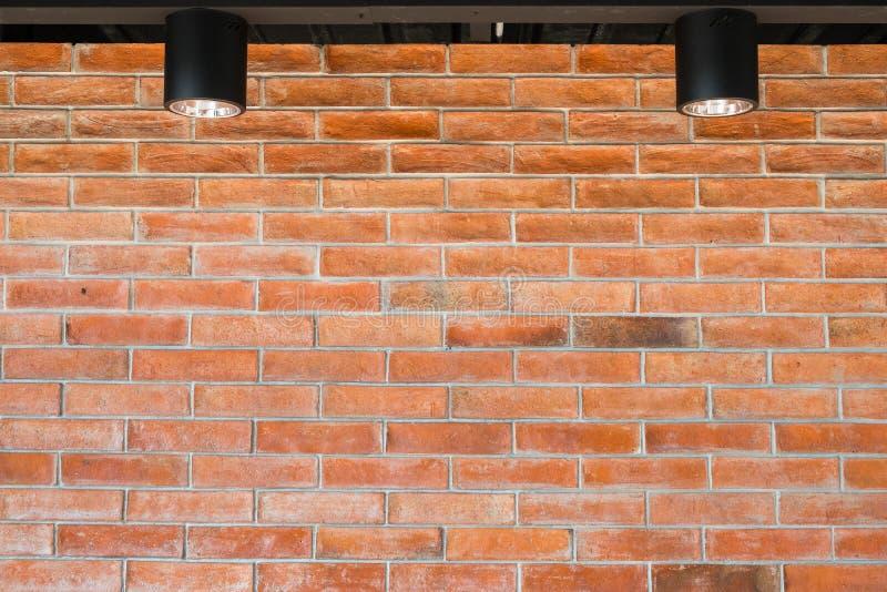 纹理的红砖墙壁 免版税库存照片