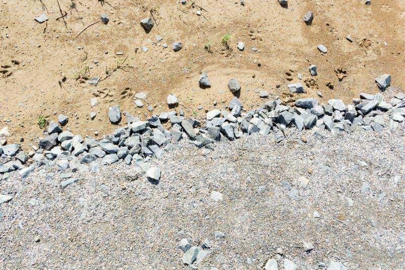 纹理美好的石渣和沙子 库存图片