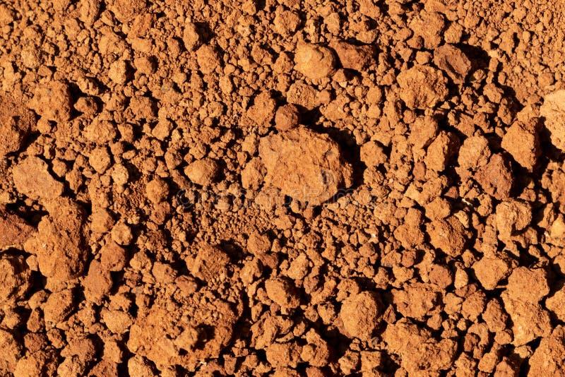纹理背景的干燥红色土壤 免版税图库摄影