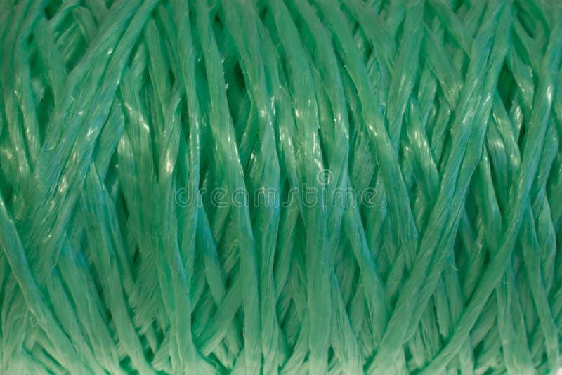 纹理背景绿色螺纹织法 免版税库存图片