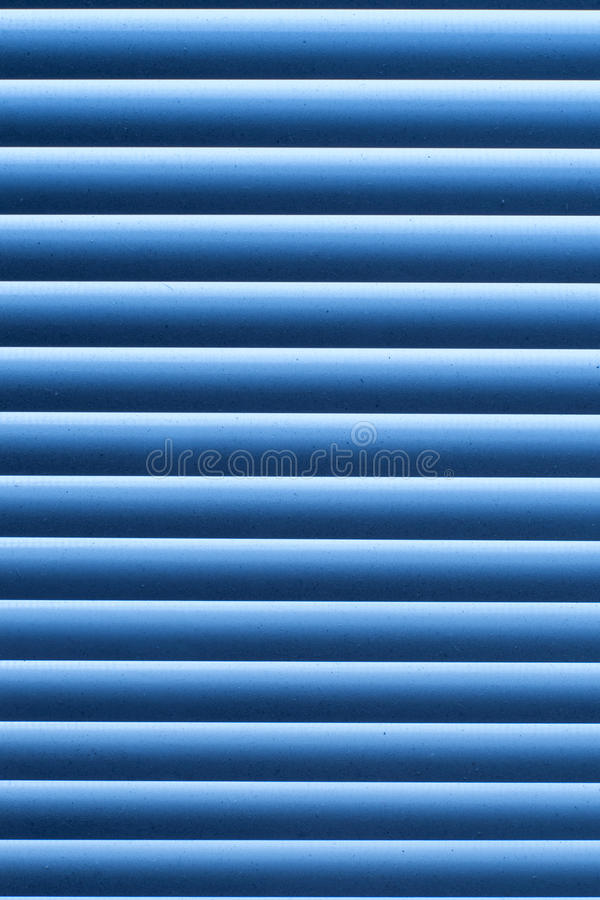 纹理蓝色抽象条纹图形 在窗口的窗帘与尘土 图库摄影
