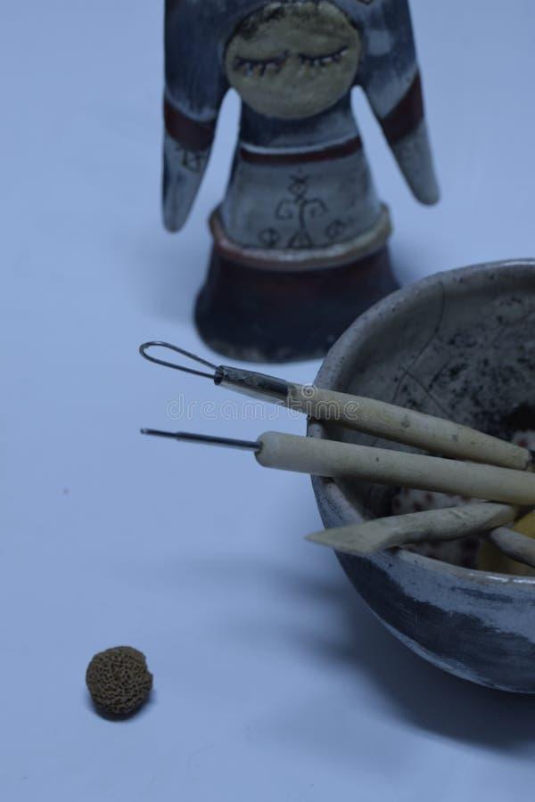 纹理陶瓷静物画 免版税库存照片