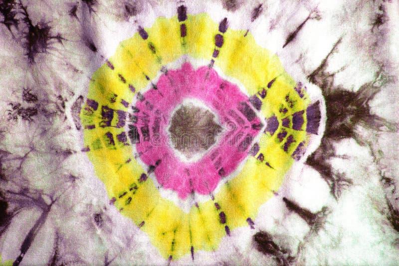 纹理领带被洗染的织品 库存图片