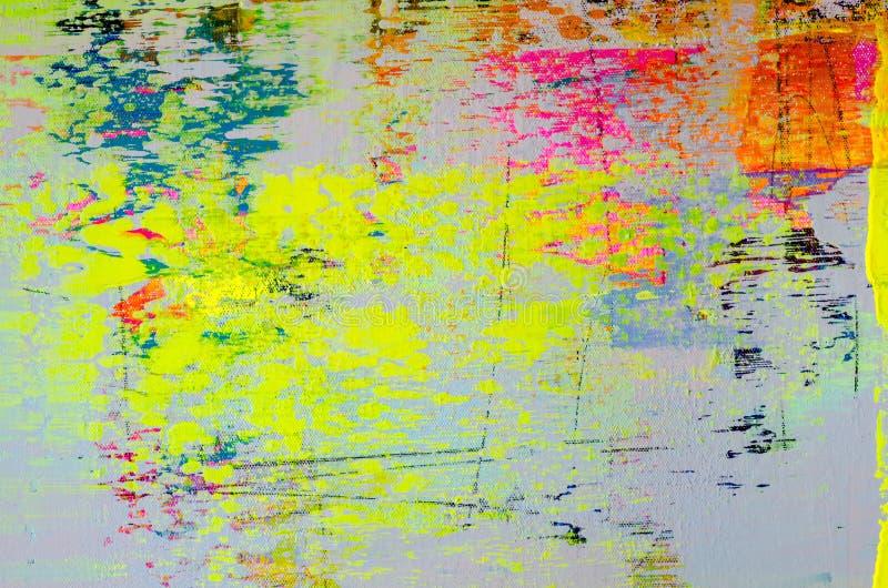 纹理,与油柔和的淡色彩的背景绘画 免版税库存照片