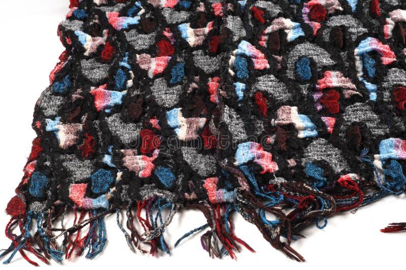 纹理,背景,样式 软绵绵地温暖的舒适围巾从scra缝合 免版税库存图片