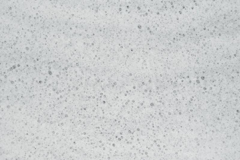 纹理-水表面上的肥皂泡沫 免版税库存图片