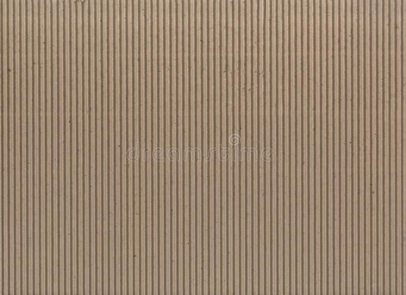 纹理-浅褐色的皱纸板 免版税库存图片