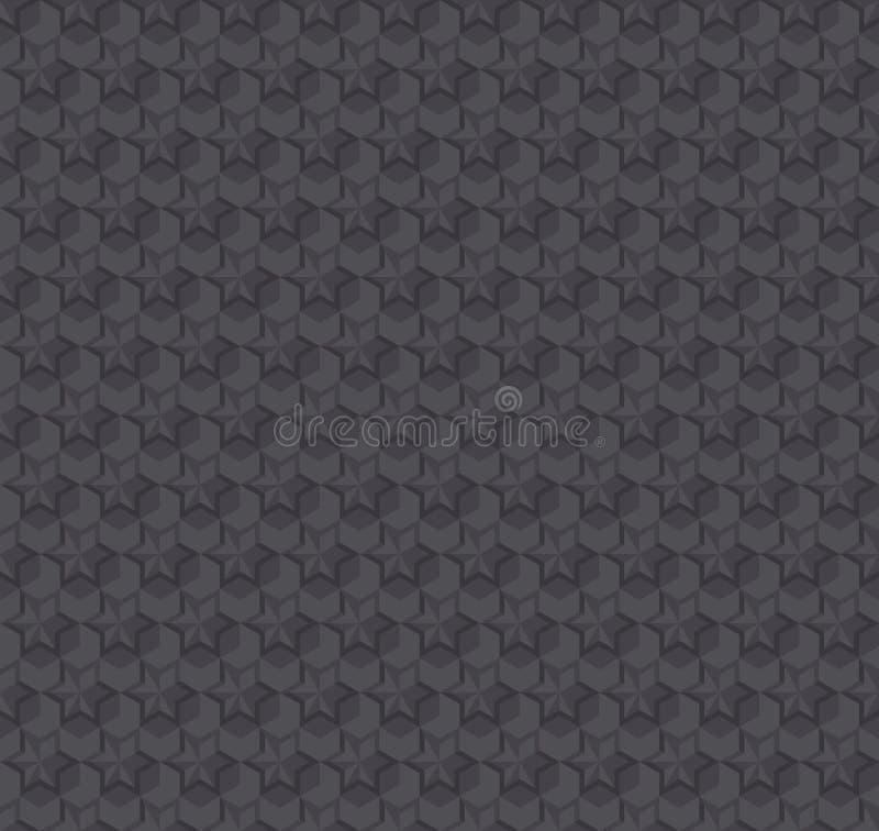 纹理3d幻觉深灰无缝的样式 皇族释放例证