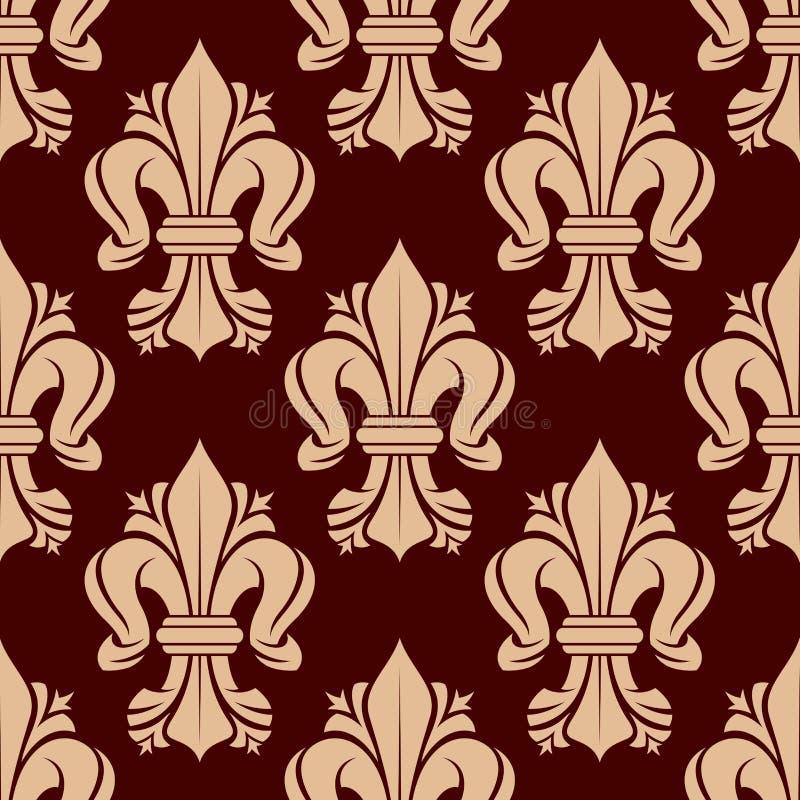 纹章学尾花网眼图案元素无缝的样式 皇族释放例证
