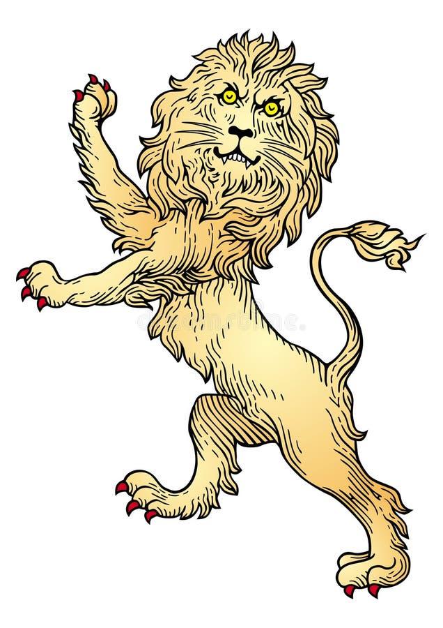 纹章学狮子向量 库存例证