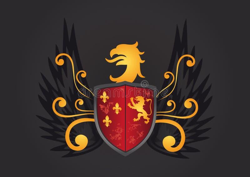 纹章学盾 皇族释放例证