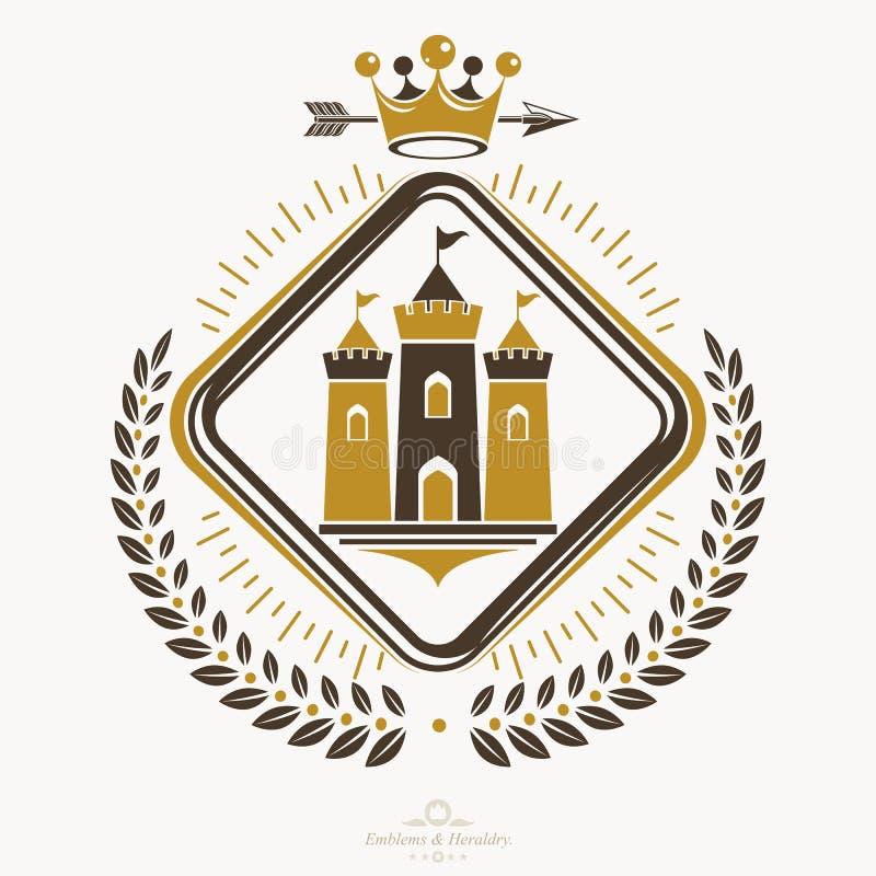纹章学象征被隔绝的传染媒介例证 皇族释放例证