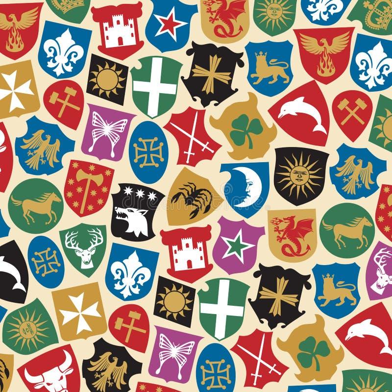 纹章设计 皇族释放例证