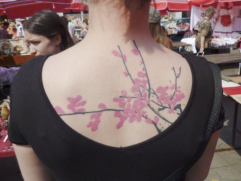 纹身花刺作为时尚 库存图片