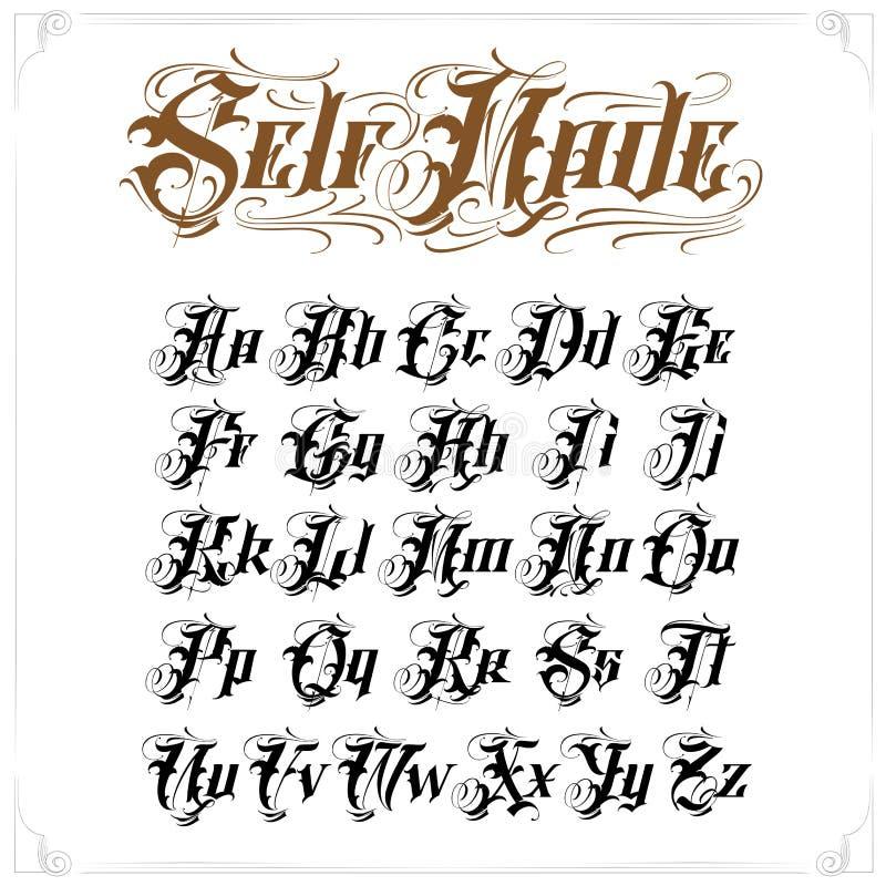 纹身花刺字法集合 皇族释放例证
