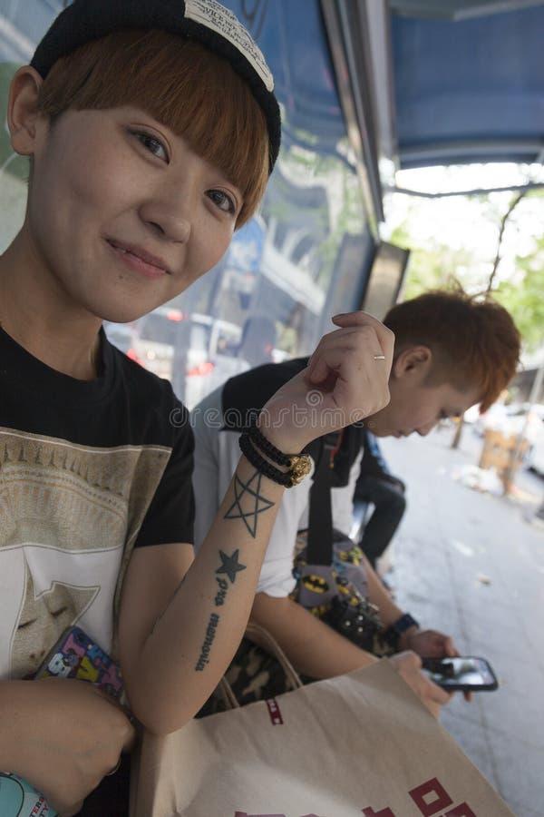 纹身花刺文化在亚洲 库存图片