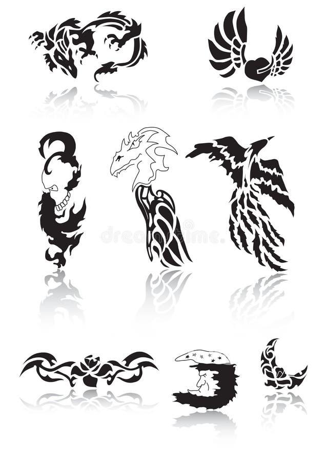 纹身花刺 皇族释放例证