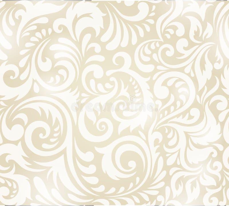 纺织品、纸或者表面纹理的传染媒介无缝的样式 库存例证