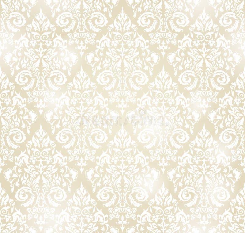 纺织品、纸或者表面纹理的传染媒介无缝的样式backgroundin葡萄酒样式 皇族释放例证