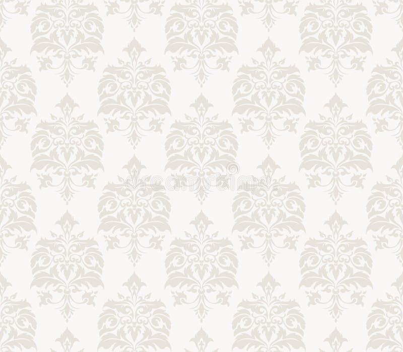 纺织品、纸或者表面纹理的传染媒介葡萄酒样式无缝的样式背景 向量例证
