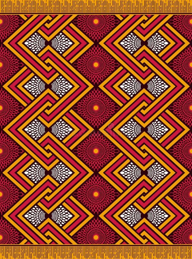 纺织品时尚非洲人安卡拉印刷品 向量例证