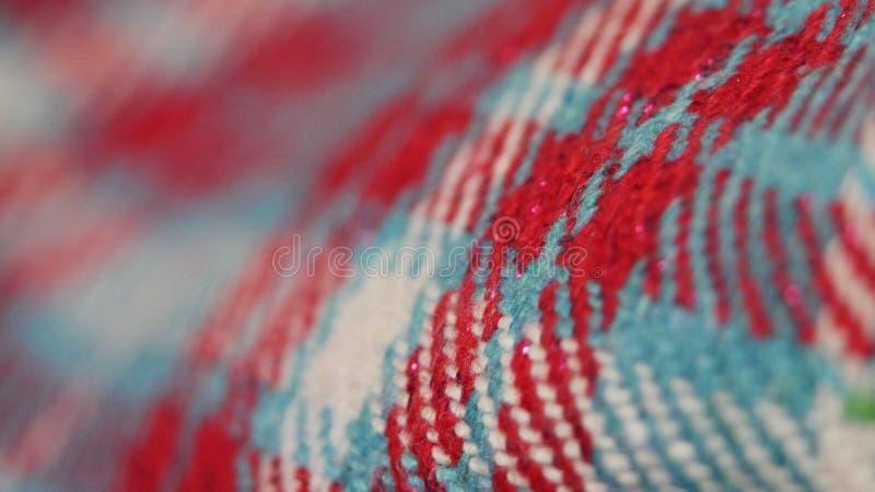 纺织品背景纹理在关闭的 库存图片