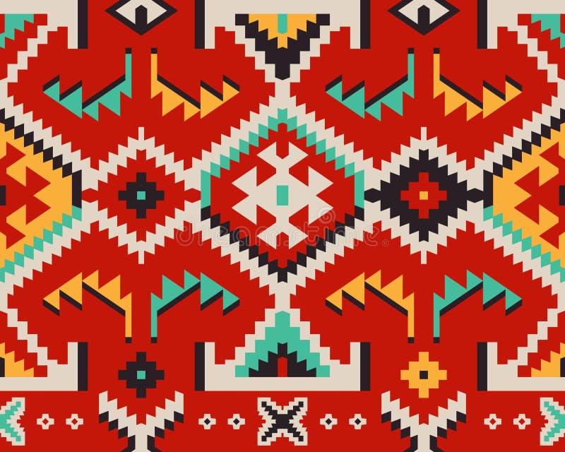 纺织品设计的土耳其种族样式 免版税图库摄影