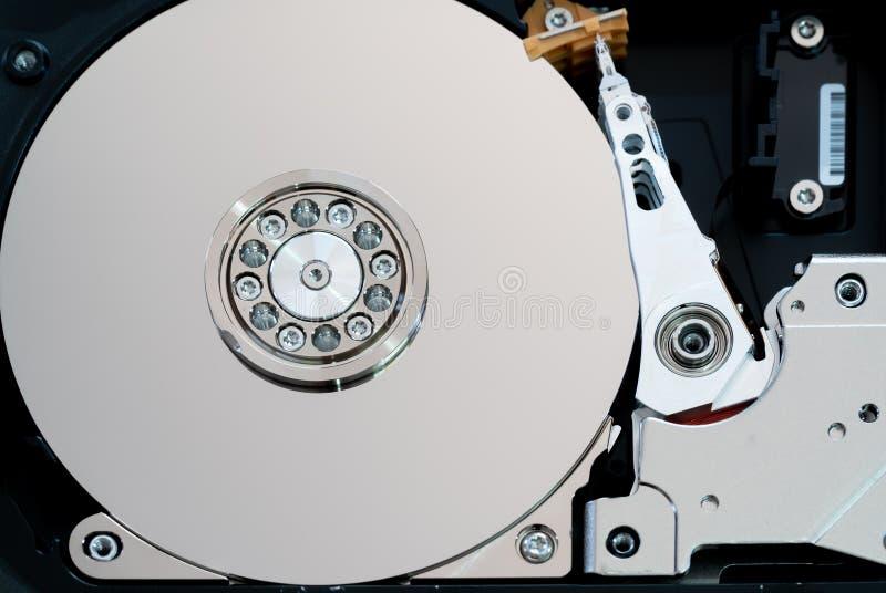 纺锤和板材打开了硬盘驱动器硬盘驱动器 r 免版税库存照片
