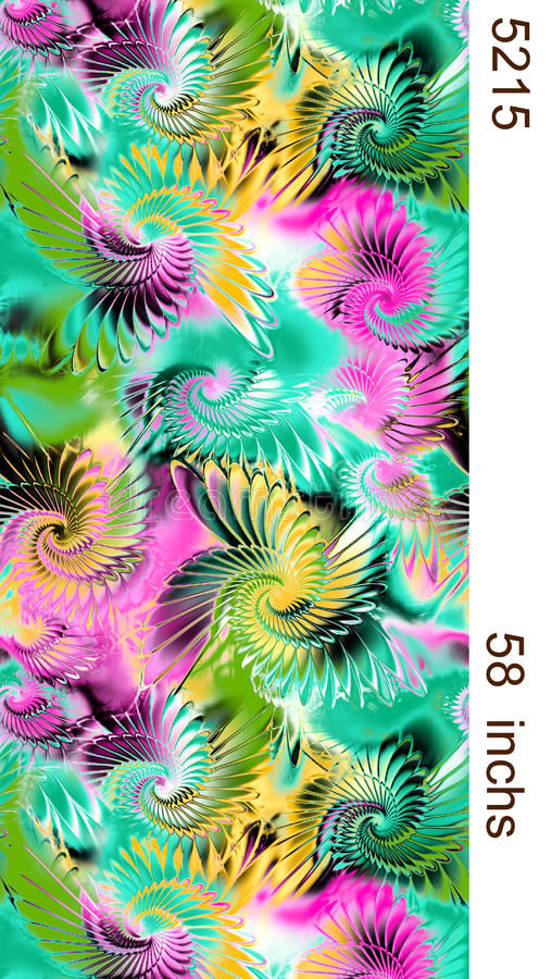 纺织品印刷品设计patteren 免版税库存照片