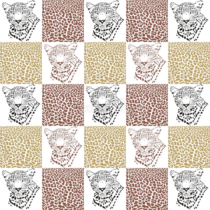 纺织品和墙纸的豹子样式 向量例证